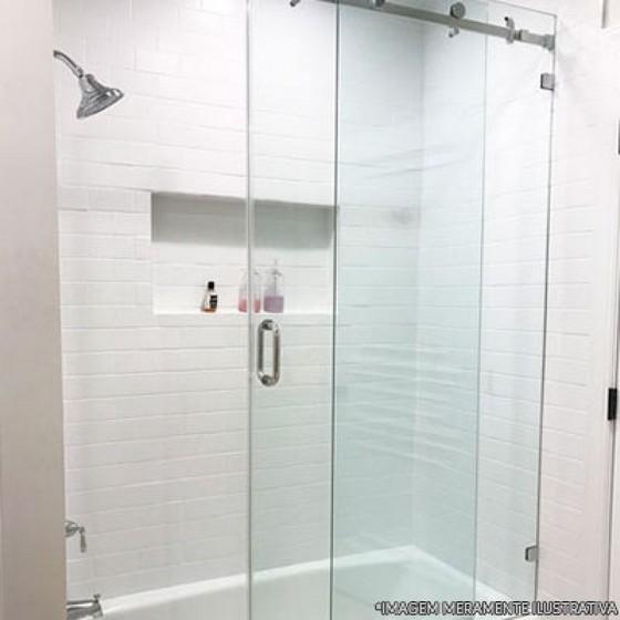 Box para Banheiros de Vidro Água Chata - Box para Banheiro de Vidro