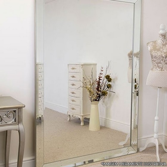 Compra de Espelho de Parede para Empresa Vila União - Espelho Bisotado