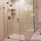 box de vidro temperado para banheiros Cocaia